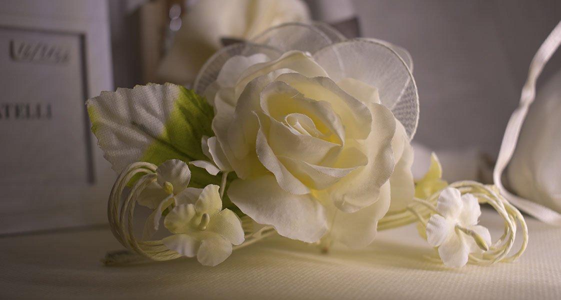 rosa bianca bomboniere personalizzate matrimonio selvazzano padova